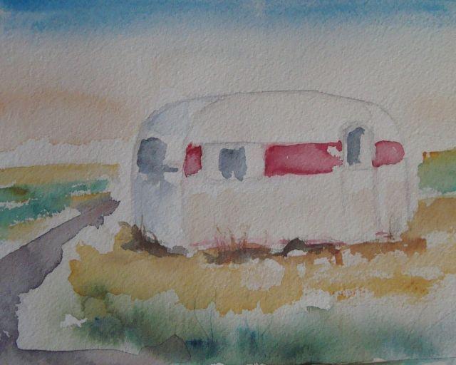 Husvagn på Öland