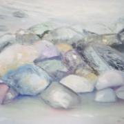 Stenar vid strand